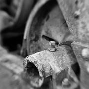 Rusting Equipment - Pottsville - Merlin, Oregon - Lensbaby - Black & White