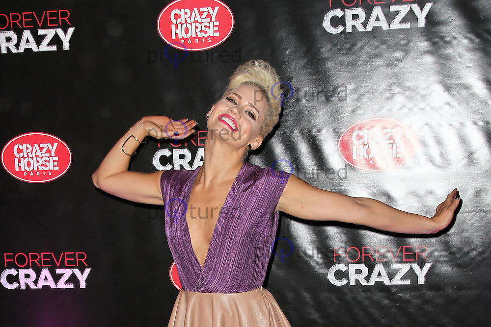 LONDON - SEPTEMBER 19: Kimberly Wyatt attended the premiere of 'Crazy Horse Presents Forever Crazy' at The Crazy Horse, London, UK. September 19, 2012. (Photo by Richard Goldschmidt)