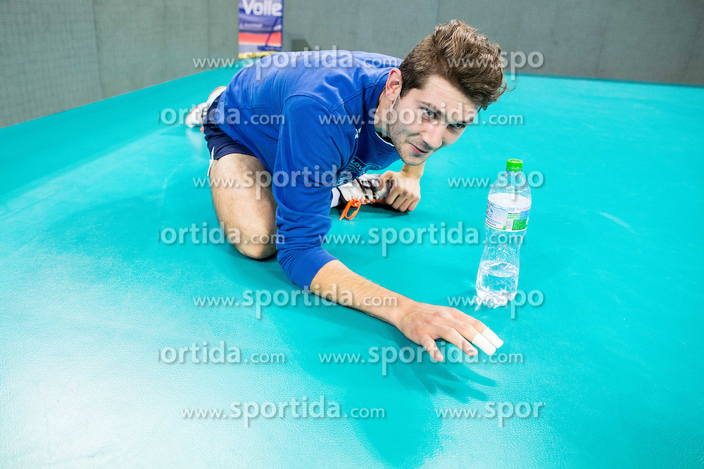 Danijel Koncilja #11 of Slovenia during practice session of Slovenian National Volleyball team in the morning before Semifinal match against Italy at 2015 CEV Volleyball European Championship - Men, on October 17, 2015 in Arena Armeec, Sofia, Bulgaria. Photo by Vid Ponikvar / Sportida