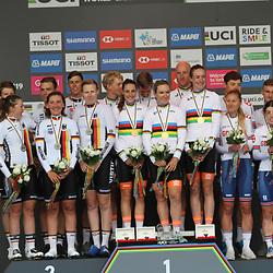 22-09-2019: WK wielrennen: Team Relay: Yorkshire<br />Nederland is in Harrogate Wereldkampioen op de Team Relay geworden. tweede werd Duitsland en derde Engeland