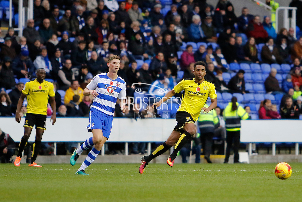 Burton's Lee Williamson (7) during the EFL Sky Bet Championship match between Reading and Burton Albion at the Madejski Stadium, Reading, England on 19 November 2016. Photo by Richard Holmes.