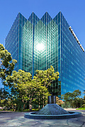 Comerica Bank Glass Building In Costa Mesa