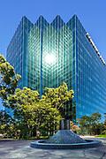 Comerica Bank Glass Building In Costa Mesa