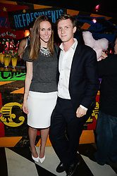 EVEIE LONGDON and MAX SANGSTER at a party to celebrate the launch of Charlie Gilkes and Duncan Stirling's new nightclub 'Disco' at 13 Kingly Court, London on 26th June 2013.