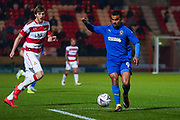 AFC Wimbledon forward Kwesi Appiah (9) during the The FA Cup match between Doncaster Rovers and AFC Wimbledon at the Keepmoat Stadium, Doncaster, England on 19 November 2019.