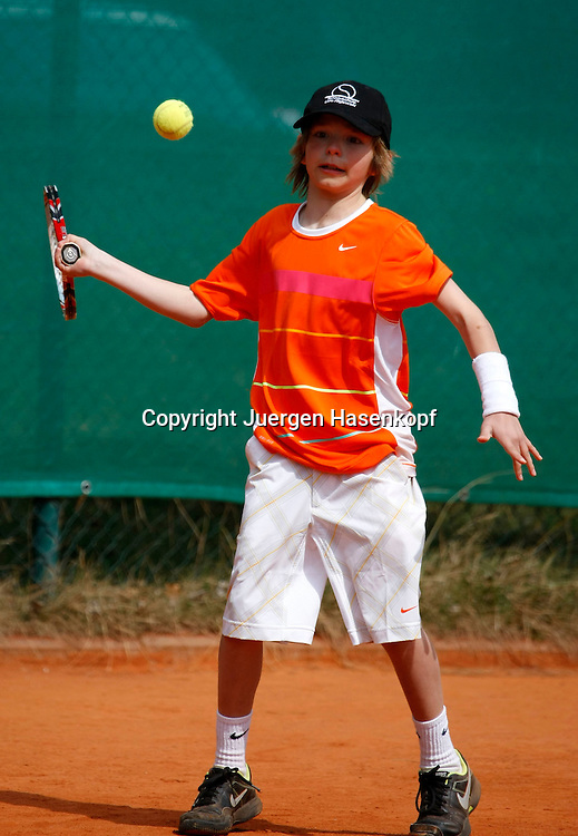 Unterhaching Junior Open, Junioren Tennis Turnier beim Tennis Klub TC Unterhaching, Jakob Riglewski ( U10),..Photo: Juergen Hasenkopf..
