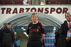 TRABZON, TURKEY - Thursday, August 26, 2010: Liverpool's manager Roy Hodgson before the UEFA Europa League Play-Off 2nd Leg match against Trabzonspor at the Huseyin Avni Aker Stadium. (Pic by: David Rawcliffe/Propaganda)