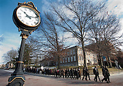 Students, staff and community members participate in the 11th ANnual Martin Luther King, Jr. Silent March & Brunch on S. Court Street Monday.