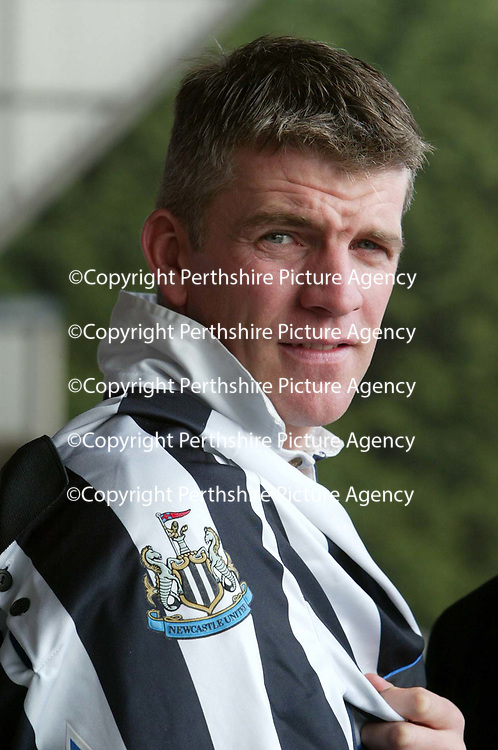 St Johnstone captain Jim Weir after it was announcied that Newcastle will be the opponents in Jim's testimonial game on May 11th.<br />