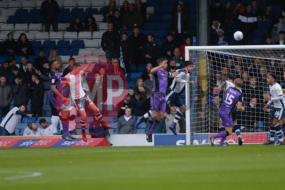Leon Legge of Port Vale heads on goal - Mandatory by-line: JMP - 04/05/2019 - FOOTBALL - Gigg Lane - Bury, England - Bury v Port Vale - Sky Bet League Two