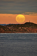 moon rising over Point Nepean