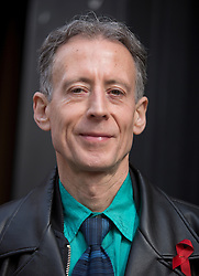 © Licensed to London News Pictures. 01/05/2015. London, UK. Campaigner Peter Tatchell attends the launch of the Green Party's LGBTIQ manifesto in Soho Square, central London. Ms Bennett announced Green pledges to review the discriminatory blood ban and introduce LGBTIQ-inclusive sex education. Photo credit: LNP