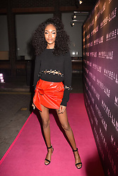 Jourdan Dunn at the Maybelline New York Bring on The Night party hosted by Adriana Lima & Jourdan Dunn at Scotch of St.James, 13 Masons Yard, England. 18 February 2017.