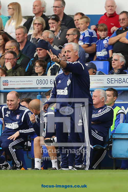 Manager of Ipswich Town, Mick McCarthy during the Sky Bet Championship match against Blackburn Rovers at Portman Road, Ipswich<br /> Picture by Richard Calver/Focus Images Ltd +447792 981244<br /> 18/10/2014