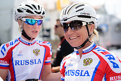 Olga Zabelinskaya (Russia) is relaxed ahead of the start of Thüringen Rundfarht 2016 - Stage 2 a 103km road race starting and finishing in Erfurt, Germany on 16th July 2016.