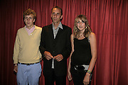 Alex Self, Will self and Magdeleine Self, GQ Men Of The Year Awards, Royal Opera House, London, WC2. 5 September 2006. ONE TIME USE ONLY - DO NOT ARCHIVE  © Copyright Photograph by Dafydd Jones 66 Stockwell Park Rd. London SW9 0DA Tel 020 7733 0108 www.dafjones.com