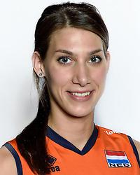 28-12-2015 NED: Nederlands Volleybalteam vrouwen, Arnhem<br /> Nederlands volleybalteam vrouwen op de foto met de nieuwe sponsorshirt ilionx / Robin de Kruijf #5