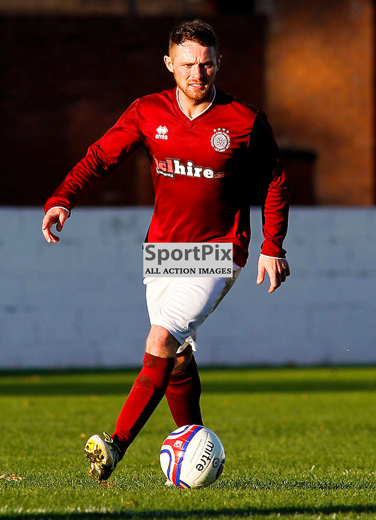 Ruari MacLennan<br /> in action for Linlithgow Rose who made history when they became the first junior club to reach the Scottish Cup 5th round when they beat Forfar Athletic 1-0 on 26th January 2016<br /> (c) Andrew West | SportPix.org.uk