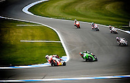 Action from Donington Park during the Superbike FIM World Championship race day