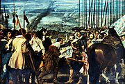 Velasquez (1599-1660) 'The Reduction of Breda': Spanish occupation of Low Countries, 1625. Prado, Madrid