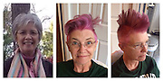 EXCLUSIVE FEATURE:<br /> <br /> Thirty-three year old stylist, Sarah K, has found a way to cope with her mothers breast cancer returning. Her 62-year-old mother, an author and a cancer survivor of 15 years, had dyed her hair pink and had Sarah style it into a Mohawk.<br /> <br /> Sarahís mum has invasive lobular carcinoma; a form of breast cancer and after chemotherapy, she faces a double mastectomy.<br /> <br /> The Mohawk was mums idea. No convincing needed. She called me one morning and asked me to come over and she had the hair dye and clippers ready to go,says Sarah.<br /> <br /> This time around, Sarah is very involved with her mum and the process she is going through, which have helped Sarah cope.<br /> <br /> ìI think I cried more than anyone in the family at the outset, but being involved has helped me a lot. Going with mom to talk to her oncologist and hearing information straight from the doctors mouth helped me a lot. Cancer medicine has evolved so much since her last bout of cancer, and being involved in her treatment has been super reassuring for me Sarah says.<br /> <br /> Sarah and her parents have been overwhelmed with the amount of support they have received since the photo of her mum went viral.<br /> <br /> Mum said that she and my dad mixed a scoop of real coffee in with the decaf and stayed up into the wee hours of the morning reading all the comments on Reddit and Imgur. Dad said watching the comments come in was like watching election results come in.<br /> ©Exclusivepix Media