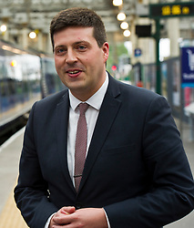Pictured: Jamie Hepburn<br /> Minister for Employability and Training Jamie Hepburn launched a &pound;10 million Flexible Workforce Development Fund which will partner industry with colleges to deliver in-work skills training during a visit to Waverlety Station in Edinburgh today. Mr Hepburn met to meet ScotRail staff who have undertaken in-work training to further their careers along with represenatatives from the Further Education sector.<br /> <br /> <br /> Ger Harley | EEm 7 September 2017