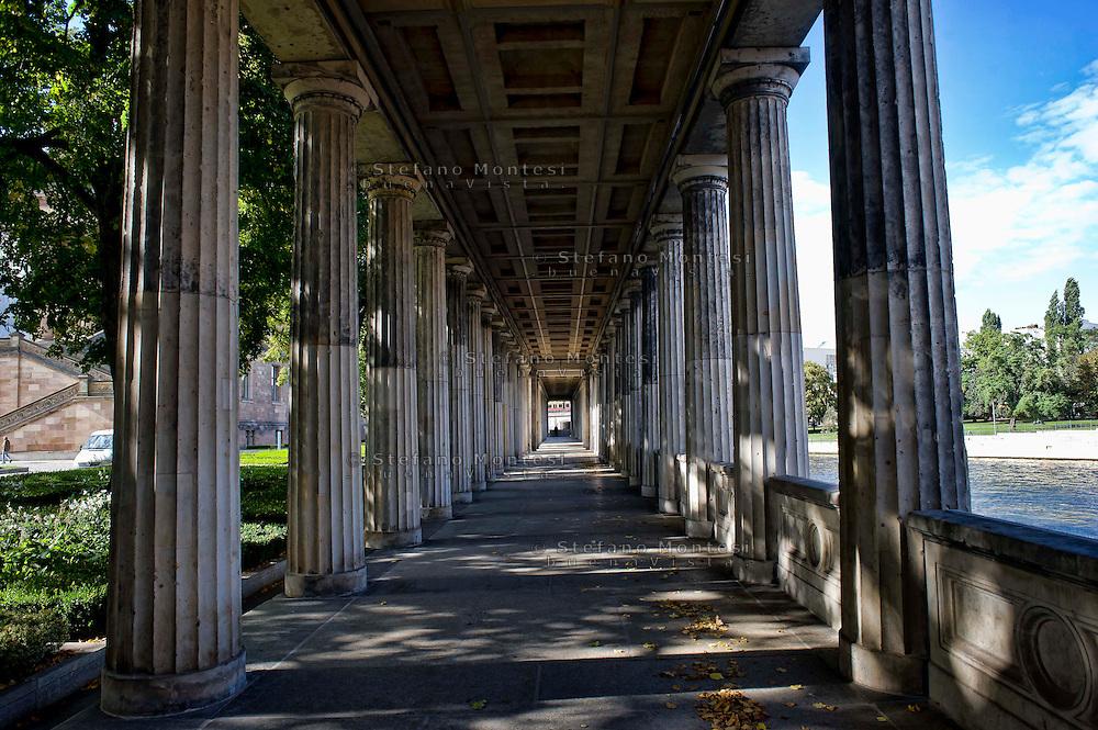 Berlin,  Museum Island<br /> Pergamon Museum,  exterior colonnade