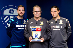 Marcelo Bielsa of Leeds United is presented with his Sky Bet Championship Manager of the Month for November 2019 - George Wood/JMP - 12/12/2019 - Leeds United Training Ground - Thorpe Arch, England.