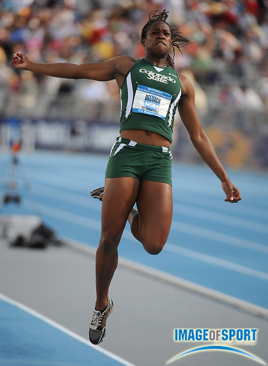 Jun 12, 2008; Des Moines, IA; Janay DeLoach of Colorado State was sixth in the women's long jump at 21-3 1/4 (6.48m) in the NCAA Track & Field Championships at Drake Stadium