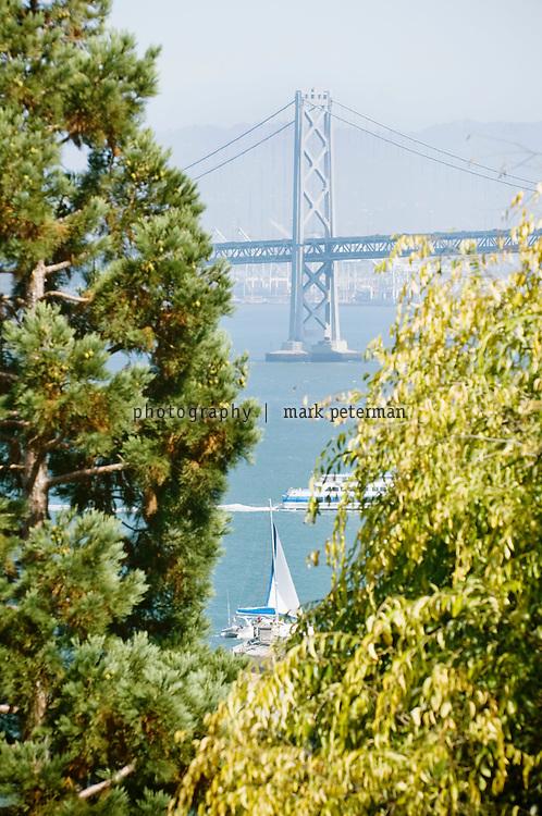 View of the Bay Bridge in San Francisco, California.