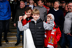 Bristol City fans in the away end - Rogan Thomson/JMP - 01/04/2017 - FOOTBALL - Griffin Park - Brentford, England - Brentford v Bristol City - Sky Bet EFL Championship.