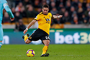 Wolverhampton Wanderers midfielder Joao Moutinho (28) in action  during the Premier League match between Wolverhampton Wanderers and Newcastle United at Molineux, Wolverhampton, England on 11 February 2019.