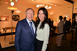 Laurence Graff and guest at the 2017 PAD Collector's Preview, Berkeley Square, London, England. 02 October 2017.