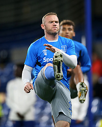 Everton's Wayne Rooney warms up prior to the Carabao Cup, Fourth Round match at Stamford Bridge, London.
