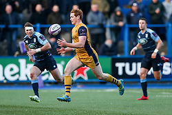 Jack Tovey of Bristol Rugby scores a try - Rogan Thomson/JMP - 21/01/2017 - RUGBY UNION - Cardiff Arms Park - Cardiff, Wales - Cardiff Blues v Bristol Rugby - EPCR Challenge Cup.
