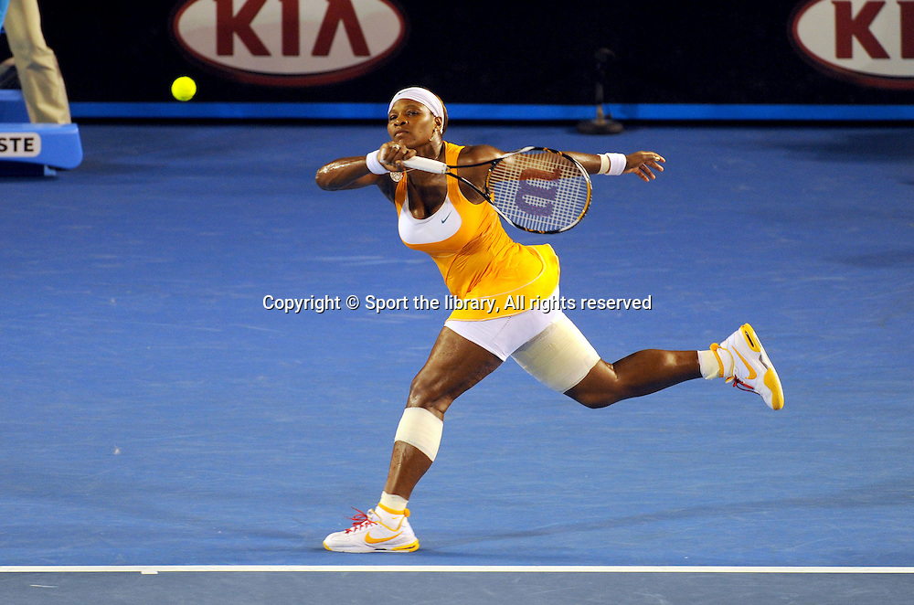 Serena Williams (USA) Open Champion<br /> 2010 Australian Open Tennis<br /> Melbourne Park, Victoria<br /> January 18 - 31 2010<br /> &copy; Sport the library/Jeff Crow
