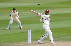 Somerset's Marcus Trescothick pulls the ball. - Photo mandatory by-line: Harry Trump/JMP - Mobile: 07966 386802 - 16/06/15 - SPORT - CRICKET - LVCC County Championship - Division One - Day Three - Somerset v Nottinghamshire - The County Ground, Taunton, England.