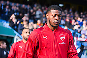 Ainsley Maitland-Niles of Arsenal (15) walks out onto the pitch during the Premier League match between Huddersfield Town and Arsenal at the John Smiths Stadium, Huddersfield, England on 9 February 2019.