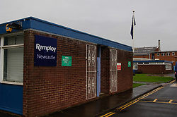 Remploy factory entrance; Forest Hall; Newcastle; UK 2007, Remploy provides specialist employment services to disabled people and those who face barriers to employment, Admin entrance