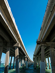 Concrete Bridge on U.S. Highway 1, Florida, USA, Low angle view