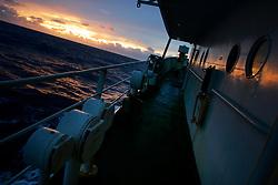 NORTHERN PACIFIC ESPERANZA 27NOV07 - Sunrise seen from aboard the MY Esperanza in the northern Pacific...jre/Photo by Jiri Rezac..© Jiri Rezac 2007..Contact: +44 (0) 7050 110 417.Mobile:  +44 (0) 7801 337 683.Office:  +44 (0) 20 8968 9635..Email:   jiri@jirirezac.com.Web:    www.jirirezac.com..© All images Jiri Rezac 2007 - All rights reserved.