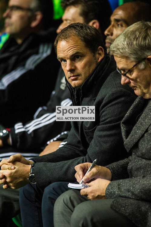 Ajak manager Frank De Boer appears relaxed ahed of the game as Celtic host Ajax at Parkhead in the Europa League.<br /> &copy; Ger Harley/ SportPix.org.uk 26 November 2015