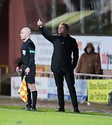 30th November 2018, Tannadice Park, Dundee, Scotland; Scottish Championship football, Dundee United versus Ayr United; Dundee United manager Robbie Neilson