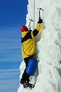 Ice climbing at Festival du Voyageur<br /> Winnipeg<br /> Manitoba<br /> Canada