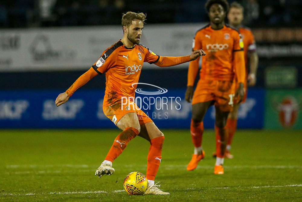 Luton Town midfielder Andrew Shinnie (11) on the ball during the EFL Sky Bet League 1 match between Luton Town and Burton Albion at Kenilworth Road, Luton, England on 22 December 2018.