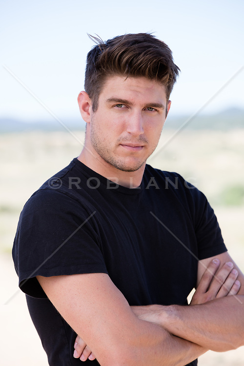 portrait of a handsome All American man