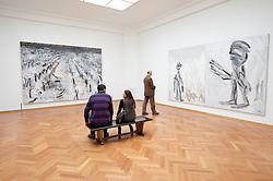 Interior of gallery at Gemeentemuseum in The Hague, Den Haag,  Netherlands
