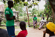 African men and women learn a bout sustainable gardening and agriculture in rural Kenya.