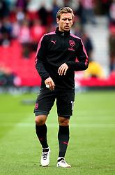 Nacho Monreal of Arsenal - Mandatory by-line: Robbie Stephenson/JMP - 19/08/2017 - FOOTBALL - Bet365 Stadium - Stoke-on-Trent, England - Stoke City v Arsenal - Premier League