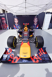 © Licensed to London News Pictures. 12/07/2017. London, UK. A Red Bull car.  Formula One racing comes to Trafalgar Square and Whitehall for a promotional event called F1LiveLondon ahead of the British Grand Prix at Silverstone. Photo credit : Stephen Chung/LNP